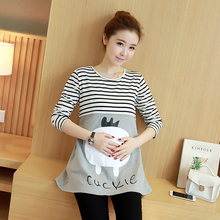 New Long Sleeve Maternity Nursing Tops Pregnancy Breastfeeding Tees Shirt Clothes for Pregnant Women Wear Feedding