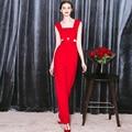 2016 новых весной и летом краткое red one piece сексуальная высокая талия подтяжки тонкий комбинезон вырез длинные rompers для feminino