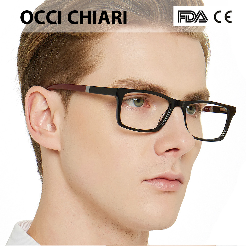 Image 2 - NEW DESIGN Fashion Men Square Metal Frames Optical Glasses Transparent Clear Lens reading Glasses OCCI CHIARI OC7007-in Men's Eyewear Frames from Apparel Accessories