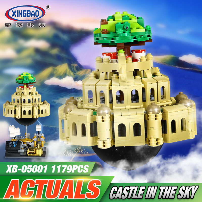 XINGBAO 05001 1179Pcs Creative MOC Series The Castle in the Sky Set Educational Building Blocks Bricks