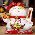 Eléctrico de la mano adornos Gato Lucky tienda abrió grandes decoraciones artesanías caja de la decoración 0487