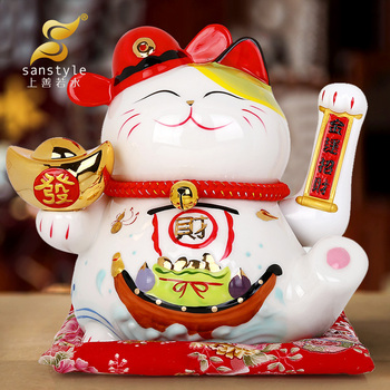 Electric hand Lucky Cat ornaments shop opened large decorations crafts cashier decoration 0487