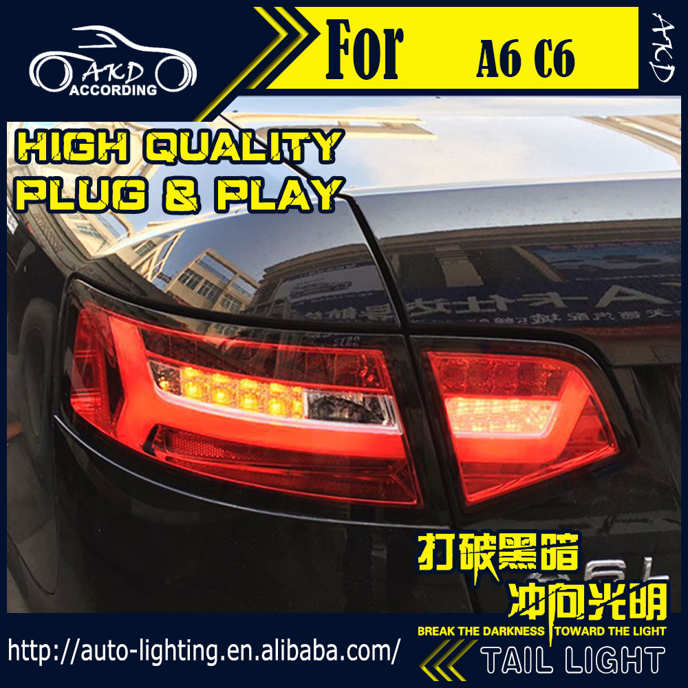 Car styling led tail lamp for audi a6 tail lights 2009 2012 a6 c6 led