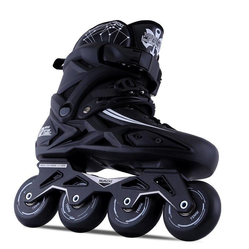 Adulte Patins À Roues Alignées À Rouleaux Chaussures De Patinage Slalom Coulissante Adulte 2017 Date enfants chaussures
