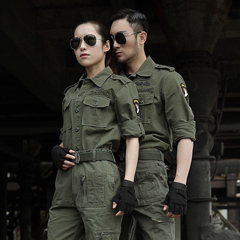 Uniforme Militar US Army Military Uniform Tactical Cotton Clothes Combat Clothing Jacket Cargo Pants Tatico CS