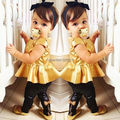 2014 Baby Girls Kids Shirt + Legging Pants Casual Clothes Sets Suit Outfits 2-8Free Shipping dropshipping