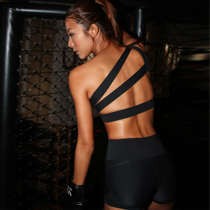 Sexy New Women Cross Design Sports Bra Push Up Shockproof Vest Tops With Padding For Running Gym Fitness Jogging Yoga Shir