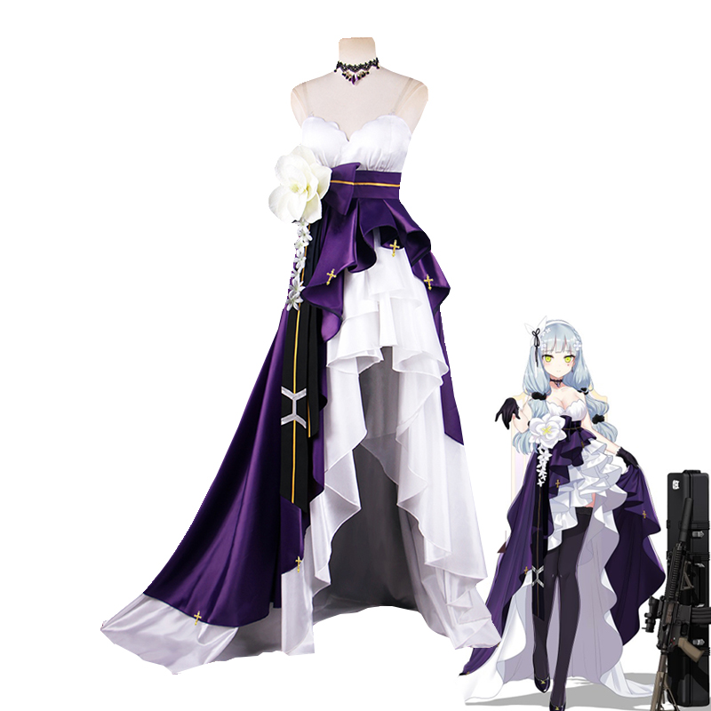 First Anniversery Game Girls Frontline HK416 Cosplay Costume Women s Delux Fomal Dress Halloween Carnival Uniforms