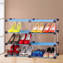Simple Modular Storage Cheap fashion simple children's shoe plastic rack assembled thin dust