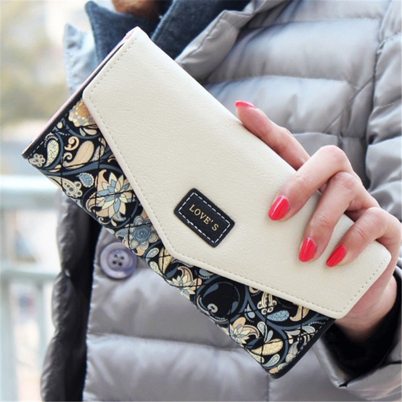 New Style Clutch Wallets For Women Hasp Pocket To Coin Card Holder Female Purses Long Wallet Ladies(China)