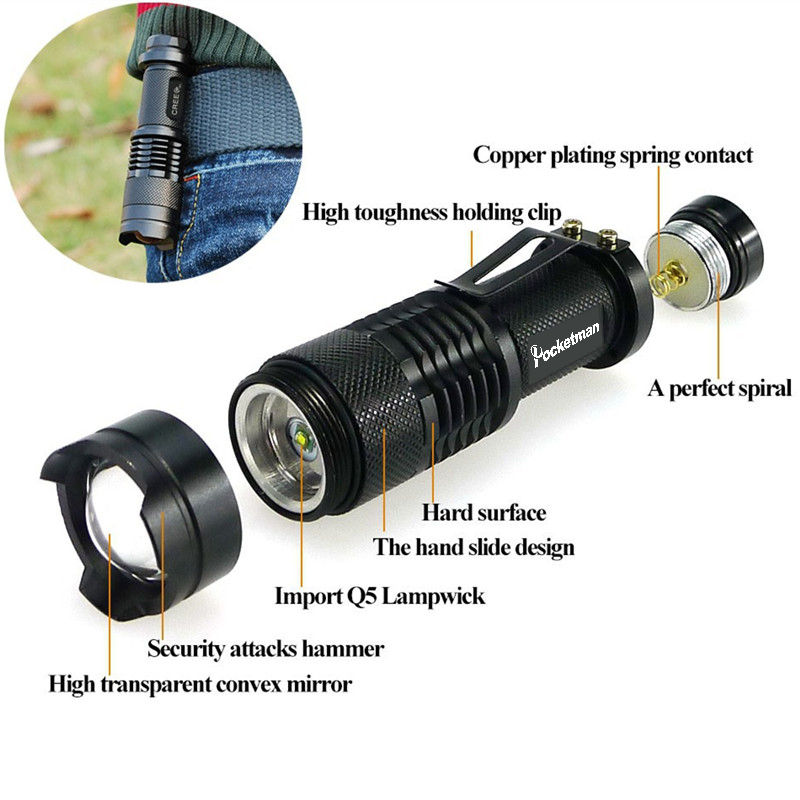 Pocketman 8000LM Hot Black de alta calidad Impermeable Linterna LED 3 - Iluminación portatil - foto 5