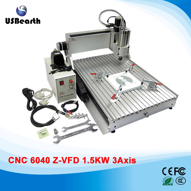 1.5KW Spindle  wood metal marble LY CNC router 6040 Z-VFD desktop cnc engraver pcb engraving machine air cooling spindle mini ly 300w cnc router 6040 drilling and engraving machine for wood pcb ar and acrylic milling and cutting