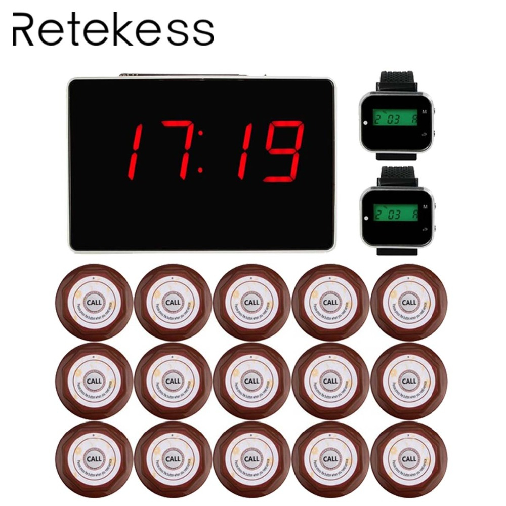 Restaurant Waiter Calling System Wireless Watch Pager Table Call Bell System Vibrating Buzzer Beeper Customer Service