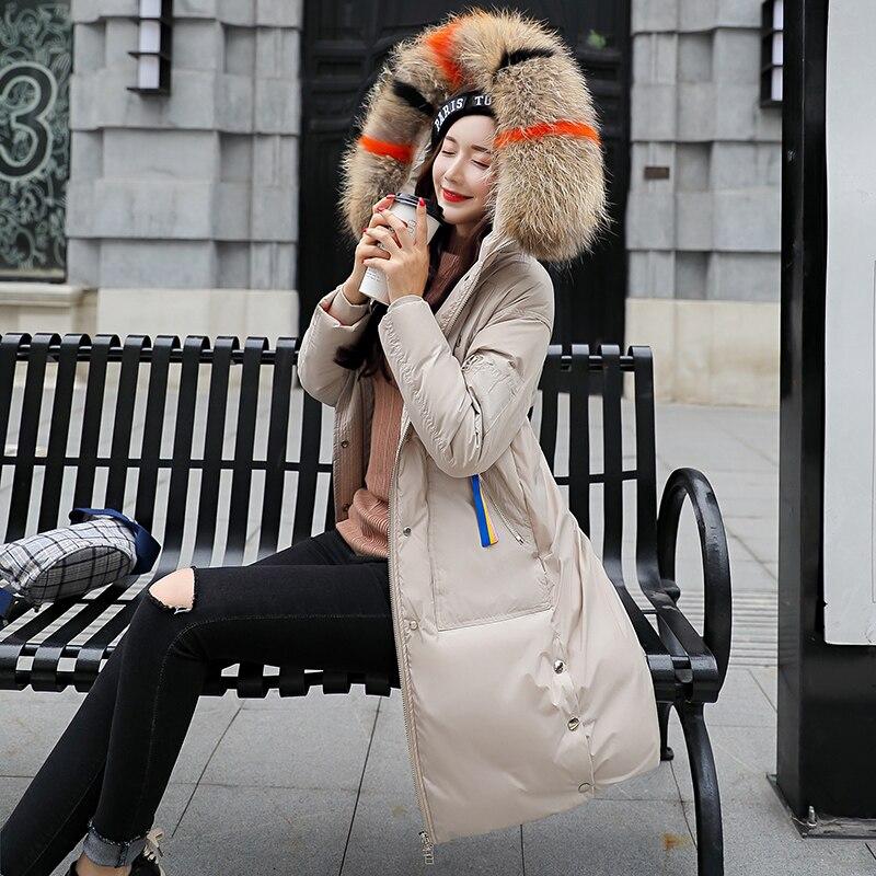 Femme rouge Kuyomens blanc Parka De Épaissir Manteau Col Green Puffer Femmes gris Faux army Noir Slim Veste Long D'hiver Fourrure BqCnXqrHU