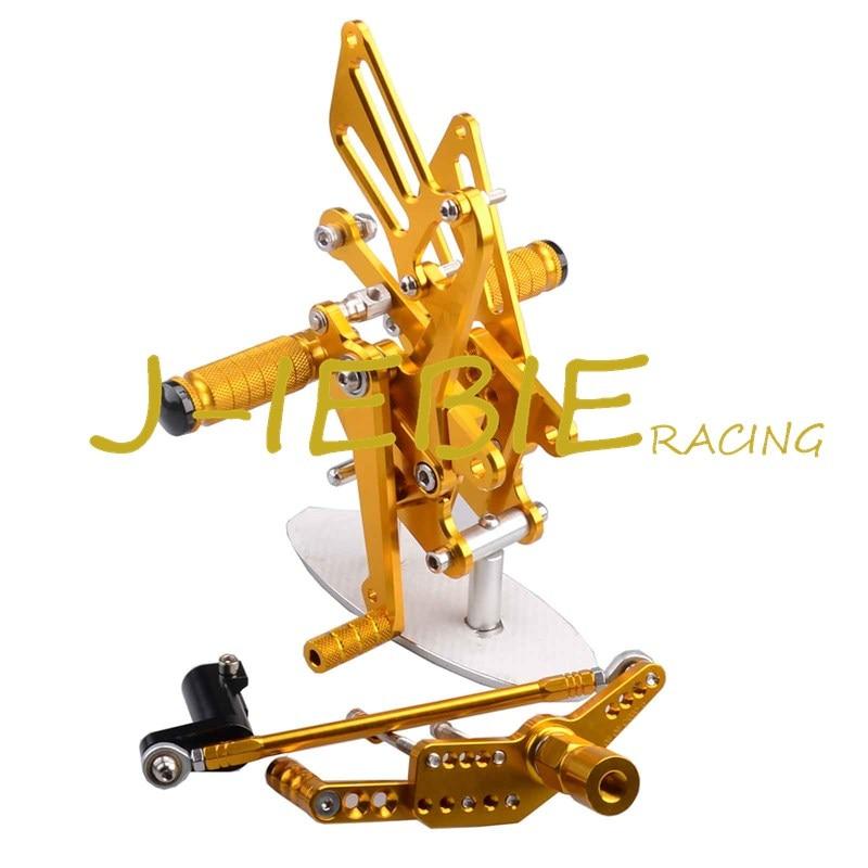 CNC Racing Rearset Adjustable Rear Sets Foot pegs Fit For Honda CBR1000RR 2008-2015 GOLD titanium cnc aluminum racing adjustable rearset foot pegs rear sets for yamaha mt 07 fz 07 mt07 fz07 2013 2014 2015 2016