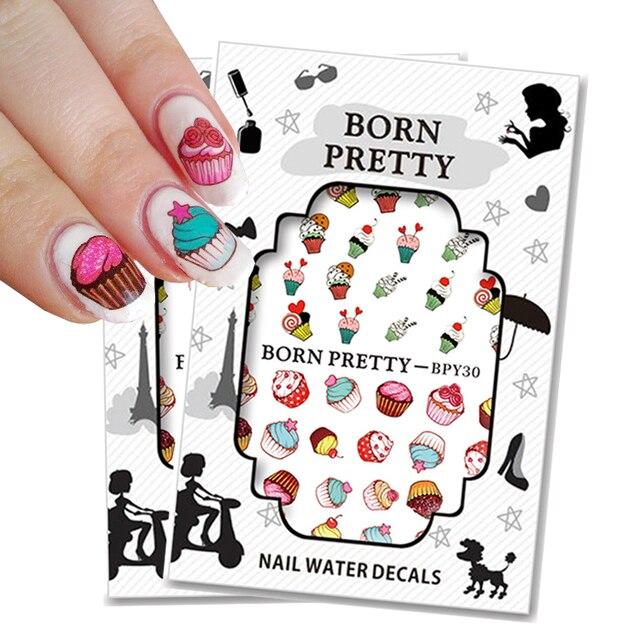 Aliexpress.com : Buy 2 sheets/set BORN PRETTY Cake Nail Water Decals ...