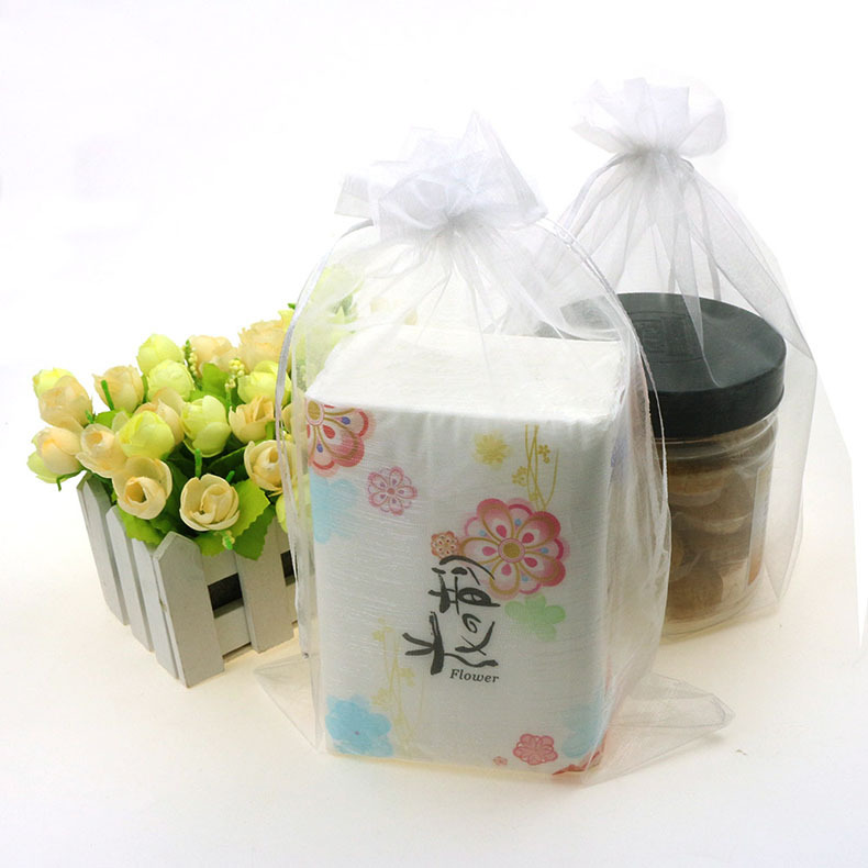 White Color Organza Jewelry Bags Wedding Favor Gift Bags Tulle Sacks