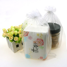 White Color Organza Jewelry Bags Wedding Favor Gift Bags Tulle Sacks Can Customized Logo Printing 20x30cm 100pcs/lot Wholesale