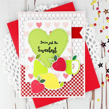 Eastshape Fruits Stamps and Dies Scrapbooking Food Apple Pear Peach Craft for DIY Making Card Embossing Clear Stamp New
