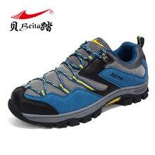 BEITA Big Size Men Sport Outdoor Hikingse Shoes Genuine Lather Breathable Professional Lace-up Autumn Trekking Shoe Size 39-44