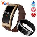 Bluetooth smart watch ck11 pulseira faixa de pressão arterial monitor de freqüência cardíaca pedômetro aptidão smartwatch para android ios phoneblu