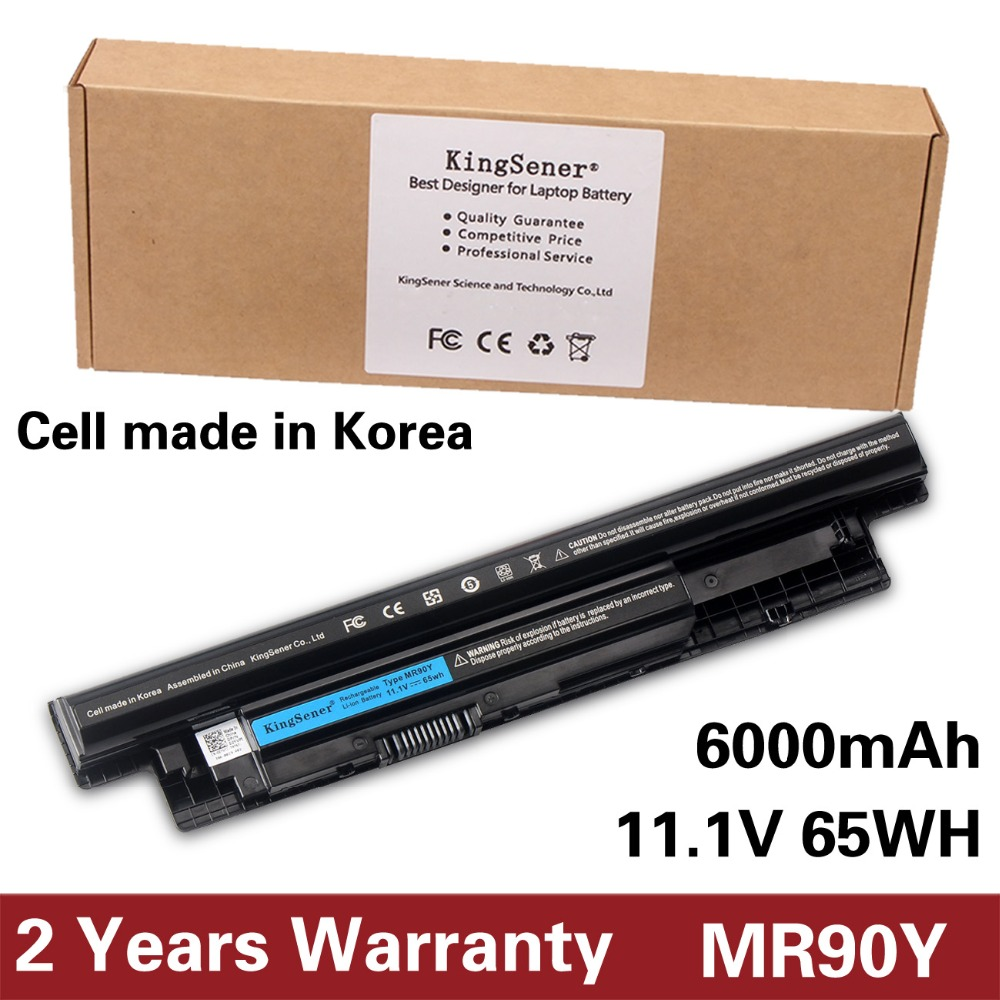 KingSener Korea Cell MR90Y Laptop Battery for DELL Inspiron 3421 3721 5421 5521 5721 3521 3437 3537 5437 5537 3737 5737 XCMRD brand new laptop for dell inspiron 15 15r 5521 5537 3537 3521 lcd back cover upper cover bezel case palmrest cover bottom case