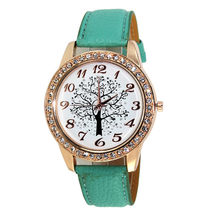 Women's Watch Reloj Mujer Great Sale Ladies Fashion Christmas Tree Diamond Fashion Female Form Luxury Dress Watch New Gift P*21(China)
