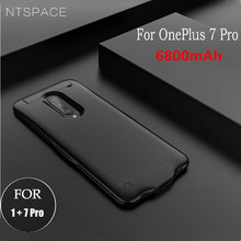 NTSPACE 6800mAh Battery Charger Cases For Oneplus 7 Power Bank Charging Case Portable Shockproof Powerbank Cover