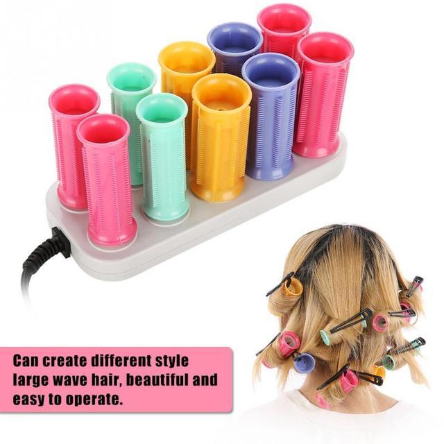 Elektryczny podgrzewany rolki lokówka rolki papilotki zestaw włosów przykleja rury suche i mokre kręcone