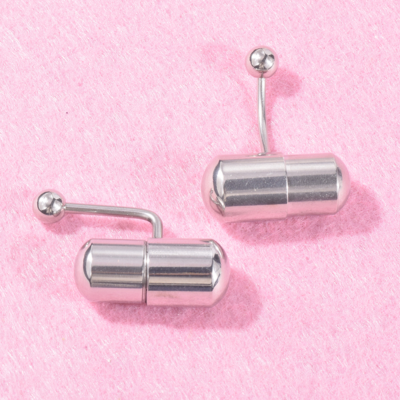 1Pcs Vibrating Navel Belly Ring Stainless Steel Bar Stud Barbell Piercing Jewelry      - AliExpress