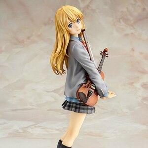 Image 2 - Hot Action Figure Your Lie In April Kaori Miyazono Cartoon Doll PVC 20cm Box packed Cute Japanese Figurine World Anime WX150