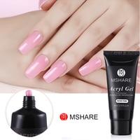 MSHARE 60ml Professional Acryl Gel Pink White Transparent UV Gel Builder Nail Color Gel Acrylic Tips