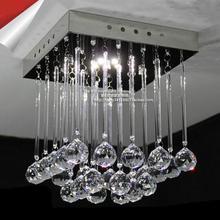 Современный квадратный K9 с украшением в виде кристаллов потолочные светильники Светодиодный лампы высокой мощности светодиодный хрустальный потолочный светильник светодиодный Блеск потолочные светильники