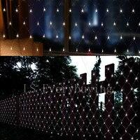 3 M * 2 M multi couleur AC 220 V Net fée Lumière de corde LED éclairage fée de noël de vacances en plein air lampe décoratifs pour la maison ceinture Queue plug