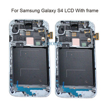 ФОТО free shipping white/black/blue replacement for samsung s4 i337 i9505 i9500 i545 touch screen lcd digitizer with frame assembly