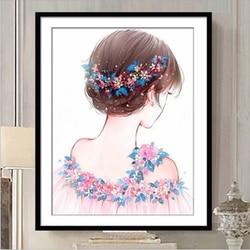 Plein bricolage diamant broderie 5D diamant peinture diamants mosaïque fille spéciale strass point de croix couture décor de noël