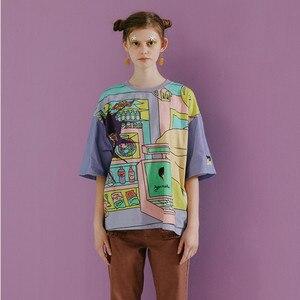 Frohe Ziemlich Harajuku Original Frauen Lose T Shirt Tops Oansatz Kurzarm Damen T-shirts Gemischt Farbe Sommer Neue T-shrits