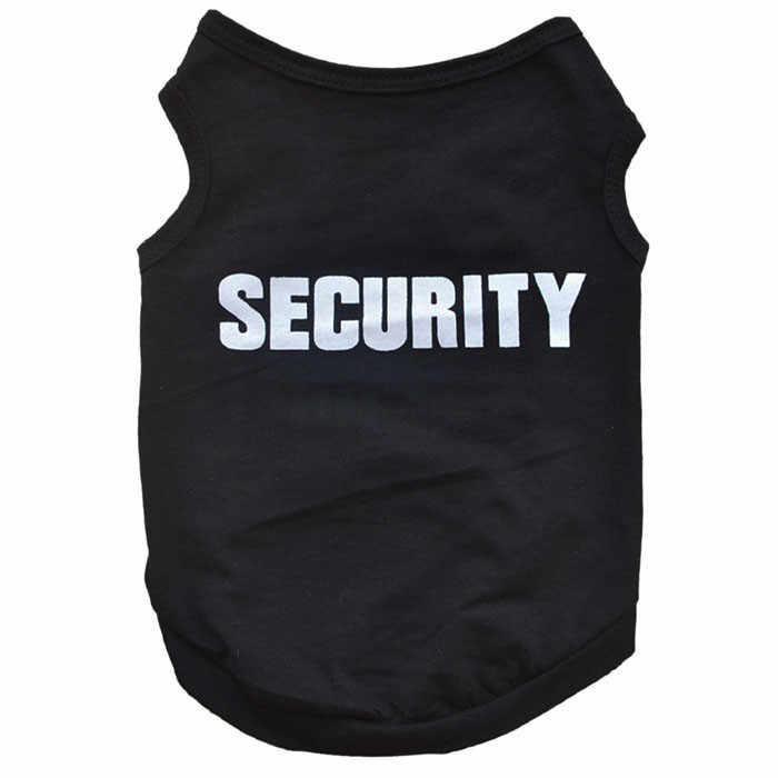 חדש אופנה קיץ חמוד כלב מחמד אפוד כותנה גור T חולצה אבטחה הדפסת דוגי בד בגדי שמלה זרוק חינם על מכירה