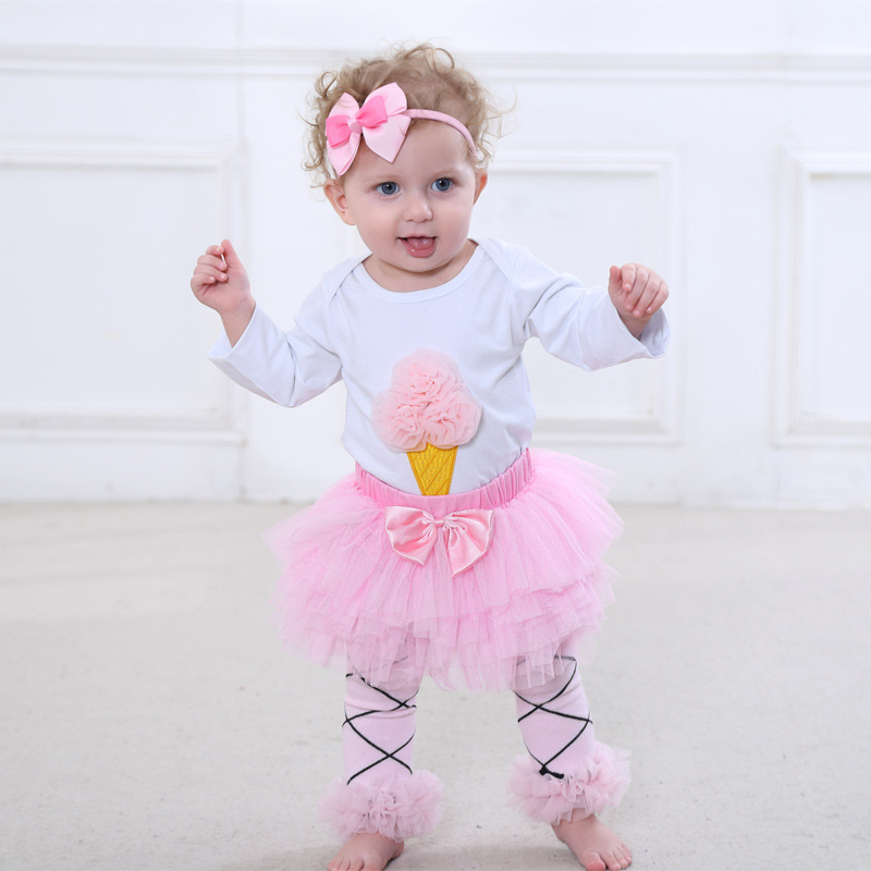 Christmas Outfits High quality Newborn Baby Girl Clothes Brand Baby 4Pcs Clothing sets Tutu Romper Roupas De Bebes Infant clothe