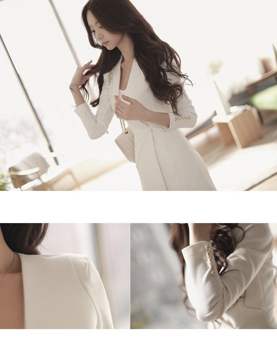 Vajza OL Formale e Biznesit për Punë Veshje, V-Qafë A-Line Zipper - Veshje për femra - Foto 6