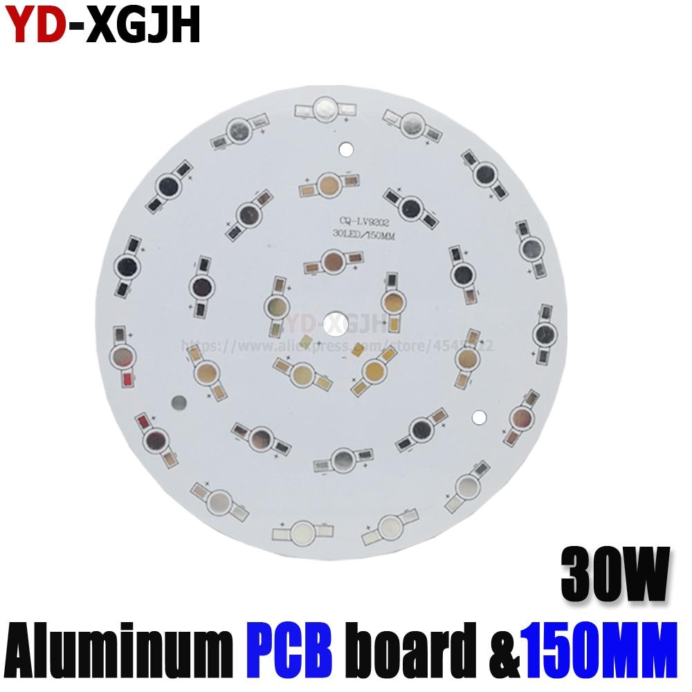 10PCS LED High power PCB Board Lamp Panel Aluminum Heat sink 30W 150mm Round Lamp Lamp spotlightmore other bulbs DIY Empty PCB