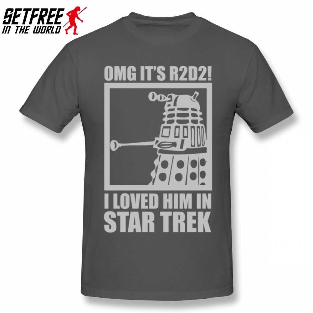 R2D2 · スターウォーズ博士は誰 Trek 男性 Tシャツ夏ヴィンテージビッグサイズ綿半袖ユーモア Tシャツ