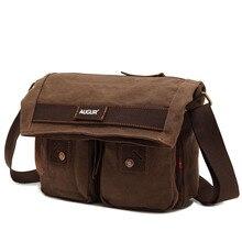 Latest Sensible BusinessCanvas Single Shoulder Crossbody Bag Multifunction School Pack for Student Staff Postman