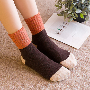 15f8ed9128f Hot sale!5 pair women s socks lady Christmas Gift Sock Fashion Winter  Rabbit Wool 3d