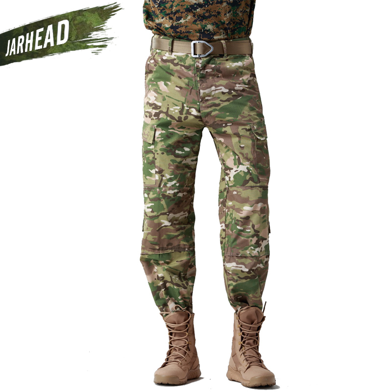 Outdoor Military Tactical hunter Combat Men Pants Army SWAT Training Military Pants Cotton Hunting Hiking Outdoors Sport Trouser swat military style cargo jeans men casual motorcycle denim biker jeans stretch multi pockets tactical combat army jean