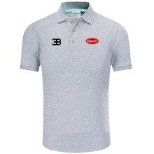 Summer Polo Shirt Bugatti logo Brand Men's Fashion Cotton Short Sleeve Polo Shirts Solid Jersey Tops Tees