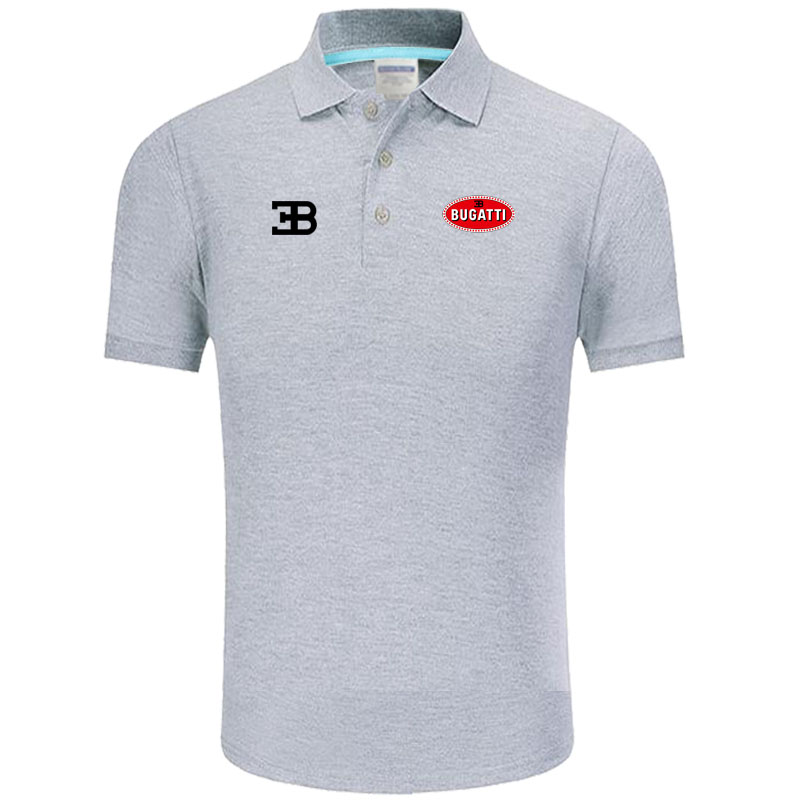 Summer   Polo   Shirt Bugatti logo Brand Men's Fashion Cotton Short Sleeve   Polo   Shirts Solid Jersey Tops Tees