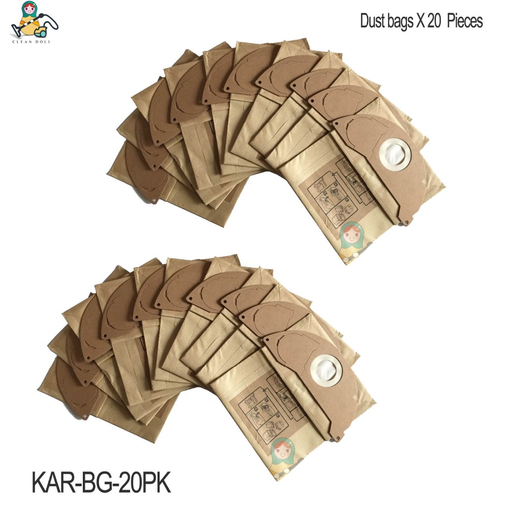 10 x KARCHER Vacuum Cleaner Bags To Fit A2054 A2064 A2054-ME A2064-PT