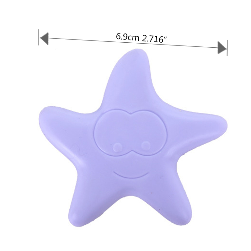 Купить с кэшбэком 2Pcs/Lot Cute Starfish Shape Sticky Door Stopper Shockproof Crash Pad Anti-crash Safe Wall Protector Home Decoration