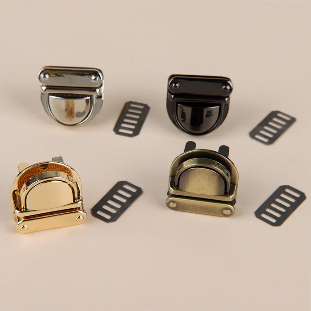 1 Pc  Metal Clasp Turn Lock Twist Lock For DIY Handbag Bag Purse Hardware Closure Bag Parts Accessories